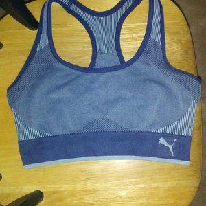brand new puma blue sports bra